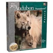 Audubon Parenthood: ARCTIC GRAY WOLF & PUP - 1000 Piece Puzzle by BGI Puzzles
