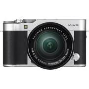 Fujifilm Systemkamera Fujifilm X-A3 Kit inkl. XC 16-50 mm Kit 24.2 MPix Silver Full HD Video, WiFi, Blixtskon, Hopfällbar display