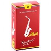Vandoren SR263R Alto Sax JAVA Red Reeds Strength 3; Box of 10