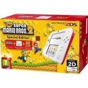 Consola Nintendo 2DS + Super Mario Bros 2 (Alb/Rosu)