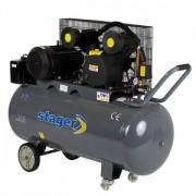 HM V 0.6/200 - Compresor cu piston, antrenare prin curea , STAGER HM V 0.6/200
