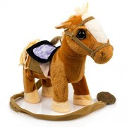 Toysery Kids Walking Pony Walk Along Toy Stuffed Plush Pony Toy, Realistic Walking Actions with Horse Sounds and Music (Battery Operated)