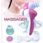 Beauty masažer za dubinsko čišćenje i piling lica sa 5 nastavaka