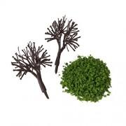 ELECTROPRIME® Orange Fruit Green Foliage Powder Model Scenic Material for Mini Tree DIY