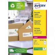 Avery Etiket Avery Lr7165 100 99 1x67 7mm Recycled Wit 800stuks