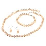 Set clasic perle de cultura crem 7 - 8 mm A