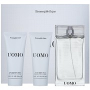Ermenegildo Zegna Uomo lote de regalo III eau de toilette 100 ml + bálsamo after shave 100 ml + gel de ducha 100 ml