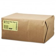 #20 Squat Paper Grocery Bag, 40lb Kraft, Std 8 1/4 X 5 5/16 X 13 3/8, 1000 Bags