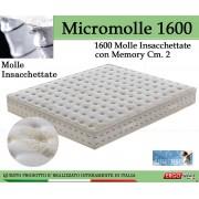 ErgoRelax Materasso Molle Insacchettate Mod Micromolle 1600 con Memory da Cm 140x190/195/200 -Ergorelax