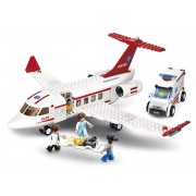 Sluban Bouwstenen Aviation Medisch Vliegtuig