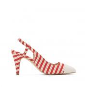 Anne Weyburn Sapatos abertos às riscasnatural/vermelho- 39
