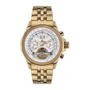 【85%OFF】Torero トリプルカレンダー ラウンドウォッチ ゴールド ファッション > 腕時計~~メンズ 腕時計