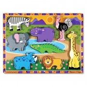 Melissa Doug puzzle lemn in relief safari