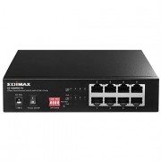 Edimax ES-1008PHE V2 Long Range 8 Port Fast Ethernet Switch with 4 PoE+ Ports, Supports Long Range Up to 200M, Port-Base VLAN, QoS, Auto-detect PD, Total 60W with External Power Adapter