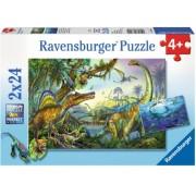 Puzzle Dinozauri, 2X24 Piese Ravensburger