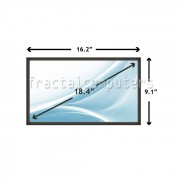 Display Laptop Toshiba QOSMIO X505-SP8017M 18.4 inch 1680x945 WSXGA CCFL-1 BULB