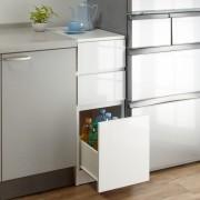 1cmピッチで幅が選べるキッチンすき間収納庫 ロータイプ高さ85cm 引き出しタイプ 【幅30~45cm】