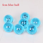 7pcs/set 4cm DragonBall Dragon ball Z Super big 7 Stars Blue/Black/Pink Star Crystal Ball Figure set Kid Toys Gifts