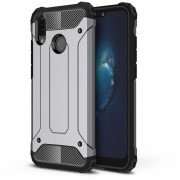 Para Huawei P20 Lite Full Body Resistente TPU + PC Combinación Volver Funda (gris)