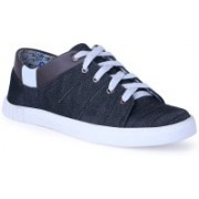 Shoe Fellow Black Denim Casual Shoes for men Casuals For Men(Black)