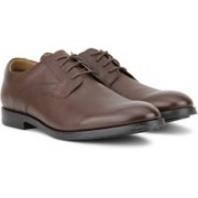 Clarks Corfield Mix Tan Interest Lea Lace Up For Men(Tan)