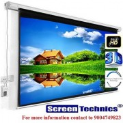 Screen Technics 100 Inch Diagonal Motorized Projector Screen Premium fabric HD 3D 4k with Dampness High Severity Technology