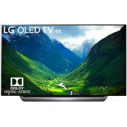 Televizor OLED 4K LG OLED77C8LLA, Smart TV, Wi-Fi, 4K Cinema HDR, Dolby Atmos®, Contrast infinit, 195 cm, Negru/Argintiu