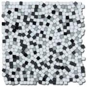 Maxwhite ASZ012 Mozaika skleněná bílá černá 29,7 x 29,7cm