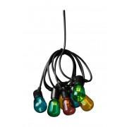 Konstsmide LED-Biergartenkette (A) bunt
