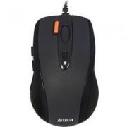 Жична мишка A4Tech N-70FX, V-Track PADLESS, Черен, USB