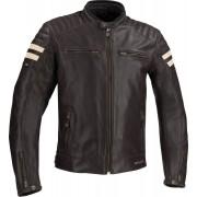 Segura Stripe Leather Jacket Brown 2XL