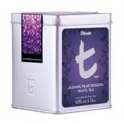 Dilmah szálas Jasmine Pear Dragon fehér tea fémdobozban 100 gr/doboz