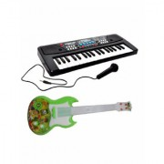 OH BABY37 Keys Melody Piano With GUITAR Dual Speakers Recording Mic And Power Saving Mode Toy for kids SE-ET-555