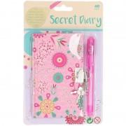 Geen Roze dagboek met mandala bloemenprint voor kinderen