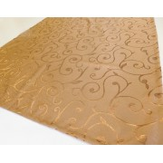 Barna bronz mintás dekor terítő/Cikksz:021021