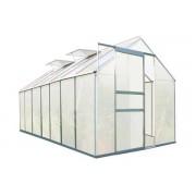 Zelsius - Aluminium Gewächshaus, 430 x 190 cm, 7 Segm., 6 mm Platten