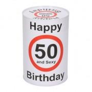 Geen Spaarblik 50e verjaardag 15 cm
