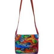 EL Mio Women Evening/Party Multicolor Genuine Leather Sling Bag