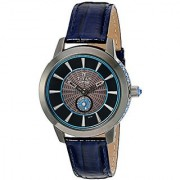 Titan Womens HTSE Self Energizing Quartz Stainless Steel and Leather Automatic Watch Color:Blue (Model: 2523QL01)