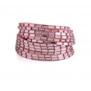 Pulsera Crystal Squares (Pink), Con Incrustaciones De Cristales, Cristal Sun ACJ6-14-153-Rosa