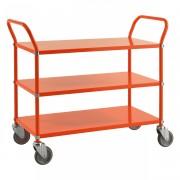 Kongamek Etagenwagen mit 2 Böden 900x440mm Orange mit Bremse