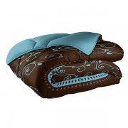 Couette 220x240 cm 400 gr/m² Cacao Barry Turquoise