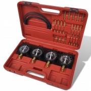 vidaXL Set unelte pentru sincronizare carburator, cu manometre cu placă fixă