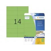 Herma 5061 Etiketter 105 x 42.3 mm Papper Grön 280 st Permanent Universaletiketter, Signal-etiketter Bläck, Laser, Kopia 20 Papper DIN A4