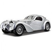 Bburago Bugatti Atlantic Diecast Model Car (1:24 Scale) Black