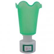 Lampa de veghe, verde, cu intrerupator, lumina calda