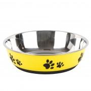 Vas din inox pentru animale Paws galben pr. 22 cm