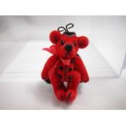 "World Of Miniature Bears 1.25"" Plush Bear Ladybug #1013 Collectible Miniature"
