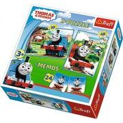 Puzzle 2 in 1 - Thomas si prietenii - cu memo, 78 piese