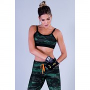 Top Fitness Feminino com Estampada Sublimada Masked